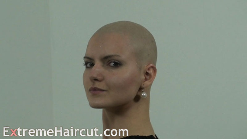 bald beauty girl