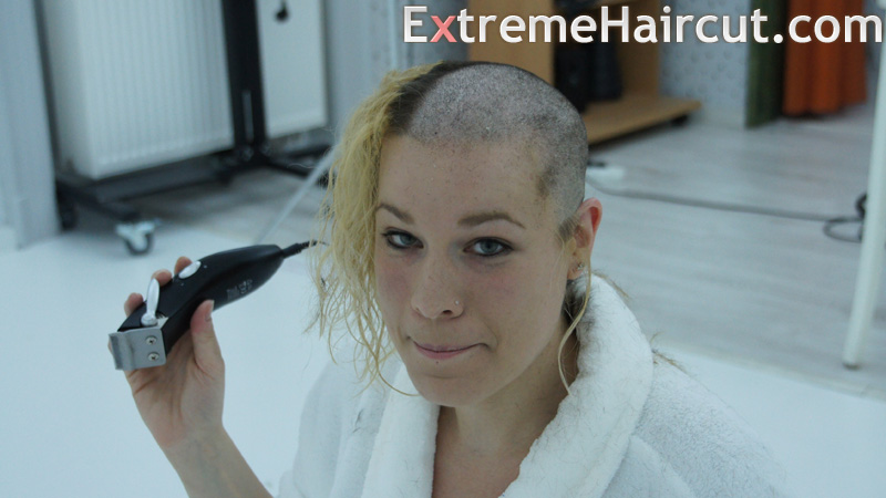 girl is almost bald